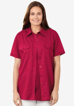 Cotton Campshirt, CRYSTAL BERRY DOT