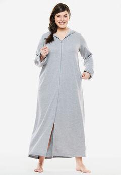 Hooded Fleece Robe by Dreams & Co.®, HEATHER GREY