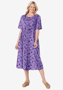 Button-Front Essential Dress,