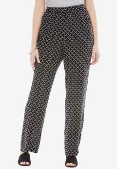 Straight Leg Lightweight Soft Pants,