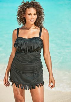 Fringe Tankini Top by Swim 365,
