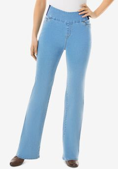 Bootcut Smooth Waist Jean, LIGHT STONEWASH
