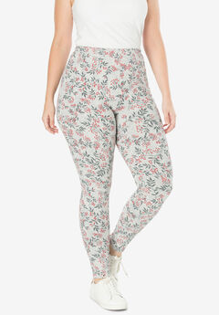 Stretch Cotton Printed Legging, HOLIDAY HOLLY