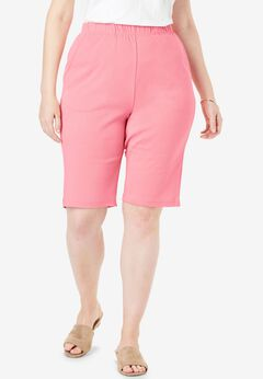 7-Day Knit Bermuda Shorts, ROSE MAUVE