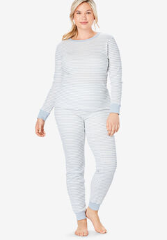 Thermal Lounge Pant , PEARL GREY STRIPE