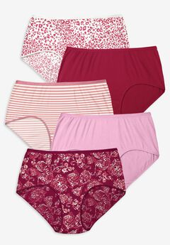 5-Pack Pure Cotton Full-Cut Brief , IVY PACK