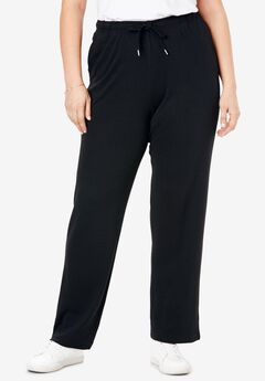 Sport Knit Straight Leg Pant, BLACK, hi-res