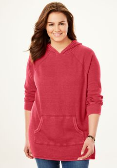Hooded Thermal Sweatshirt, FRESH RED