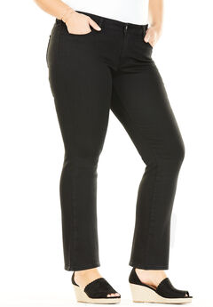 Signature by Levi Strauss & Co.™ Simply Stretch Plus Straight Leg Jeans, NOIR