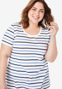Perfect Printed Tee, FRENCH BLUE MULTI STRIPE