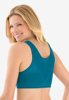 Lace Wireless Posture Bra , DEEP TEAL