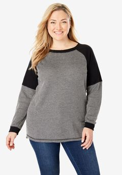 Classic Raglan Thermal Sweatshirt,