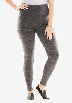 Fleece Legging, BLACK GREY SPACE DYE