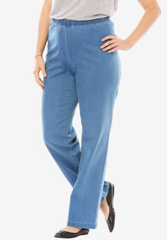 Wide Leg Fineline Jean, LIGHT STONEWASH