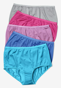 5-Pack Nylon Full-Cut Brief by Comfort Choice®, FASHION PACK