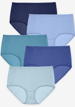 10-Pack Nylon Full-Cut Brief , BLUE MULTI PACK