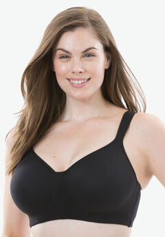 Flex Wire T-Shirt Bra by Comfort Choice®, BLACK