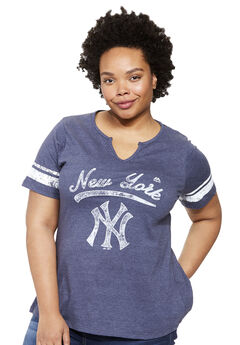 MLB Team Notch-Neck Tee, YANKEES
