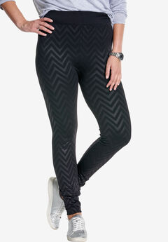 Embossed legging, BLACK, hi-res