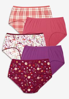 5-Pack Pure Cotton Full-Cut Brief , FALL PACK