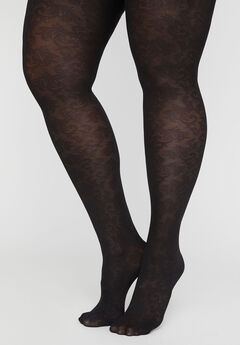 Lace Opaque Tights,