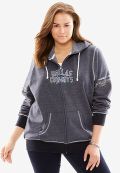 Zip-up NFL Sweatshirt, COWBOYS, hi-res