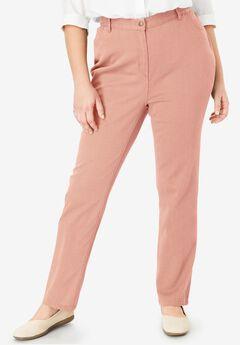 Back-Elastic Straight Leg Cotton Jean,