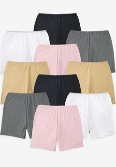 Comfort Choice® 10-Pack Cotton Boyshort,