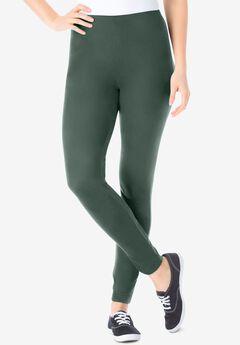 Stretch Cotton Legging, PINE