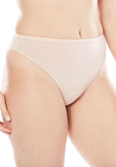 Microfiber Thong by Comfort Choice®, ROSE NUDE, hi-res