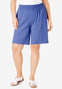 Jersey Knit Short, TULIP PURPLE