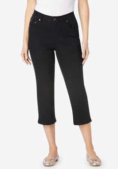 Capri Stretch Jean, BLACK DENIM