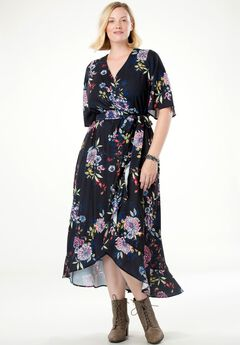 Ruffled Wrap Dress by Chelsea Studio®,