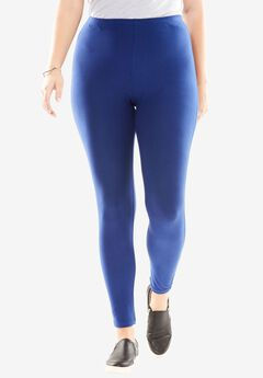 Cozy knit leggings, EVENING BLUE, hi-res