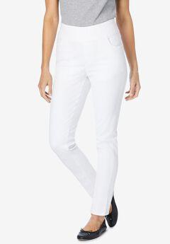 Pull-On Skinny Jean, WHITE