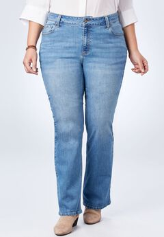 Perfect Bootcut Curvy Jean, LIGHT STONEWASH SANDED