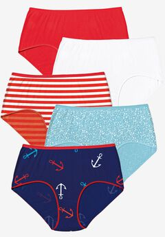 5-Pack Pure Cotton Full-Cut Brief by Comfort Choice®, ANCHOR PACK