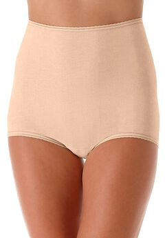 Cool cotton shaping stretch brief by Bali®,