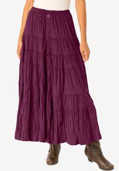 Skirt in soft-as-suede moleskin ,