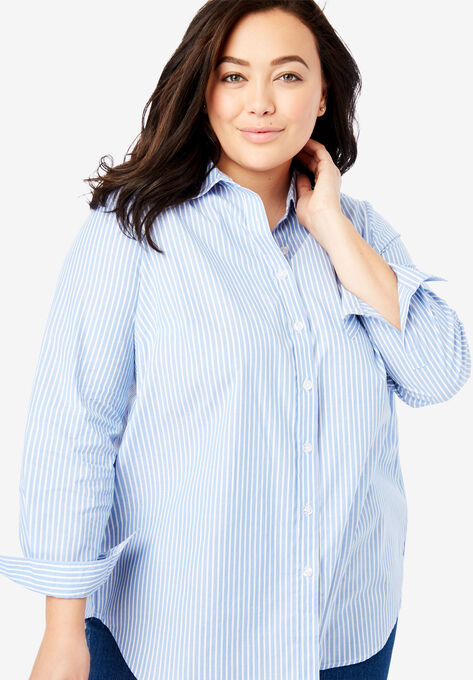 72652e951 Perfect Button Down Shirt| Plus Size Shirts & Blouses | Woman Within