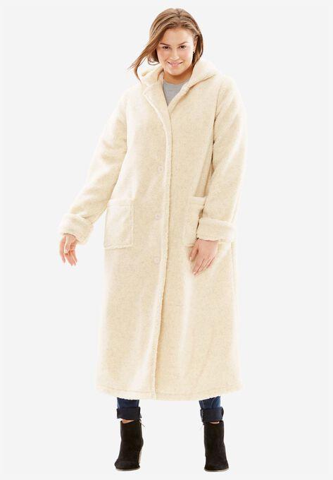 8ec8f3a9733 Hooded Berber Fleece Duster Coat