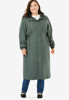 Long Hooded Taslon® Jacket,