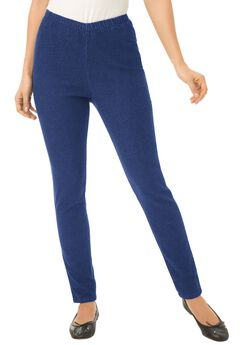 Legging Pull On Denim, NAVY, hi-res