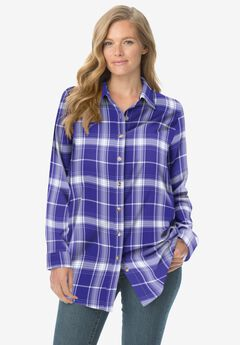 Classic Flannel Shirt, ULTRA BLUE PLAID