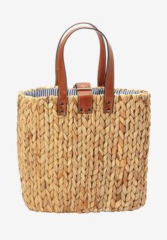 Two-Way Straw Bag, NATURAL, hi-res