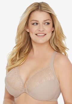 Glamorise® Wonderwire® Front Close T-Back Bra #1246,