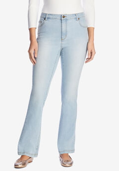 Bootcut Stretch Jean, LIGHT WASH SANDED