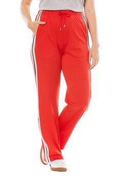 Side-Stripe Sport Knit Pants,