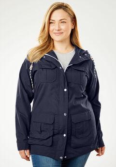 Utility Raincoat, NAVY, hi-res