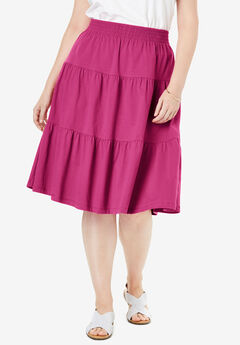 Jersey Knit Tiered Skirt,